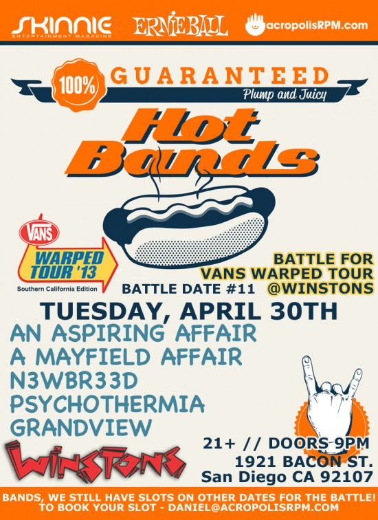 Psychothermia battle for Warped Tour 2013